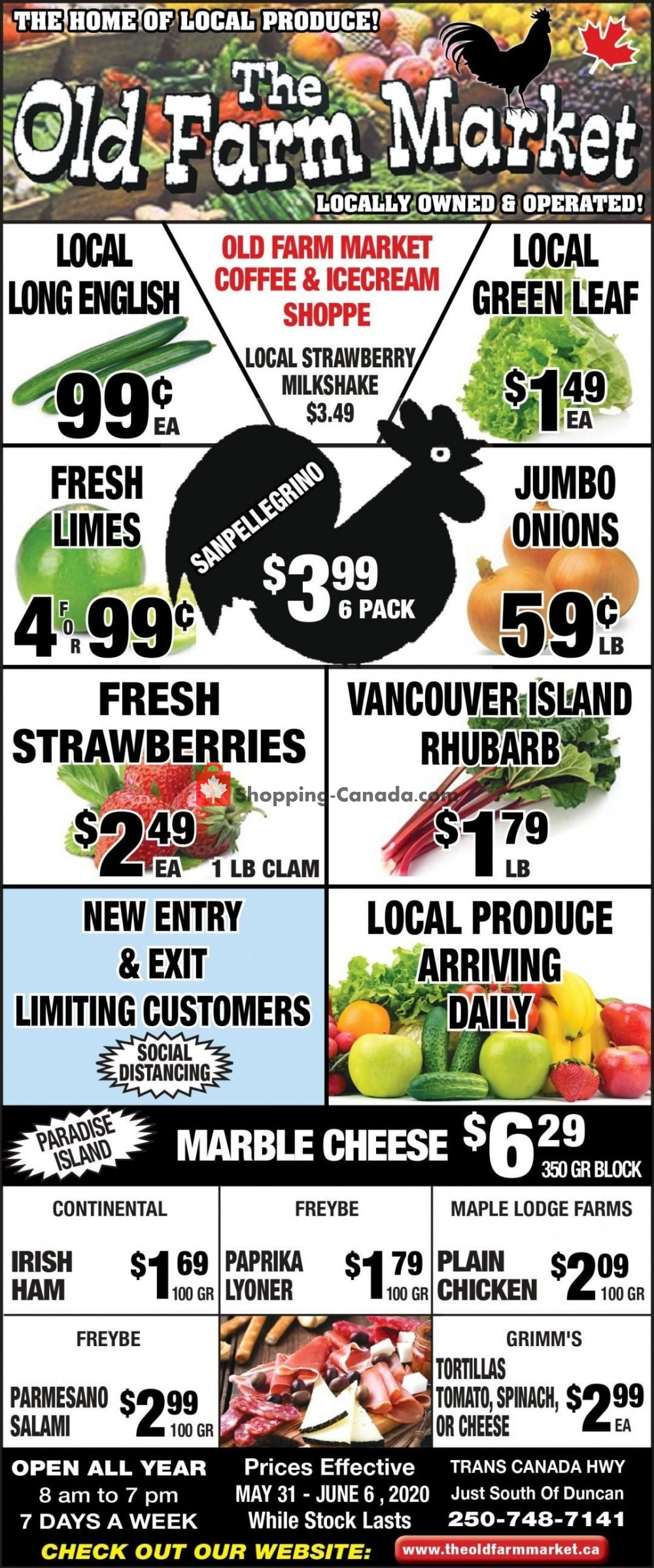 Flyer The Old Farm Market Canada - from Sunday May 31, 2020 to Saturday June 6, 2020