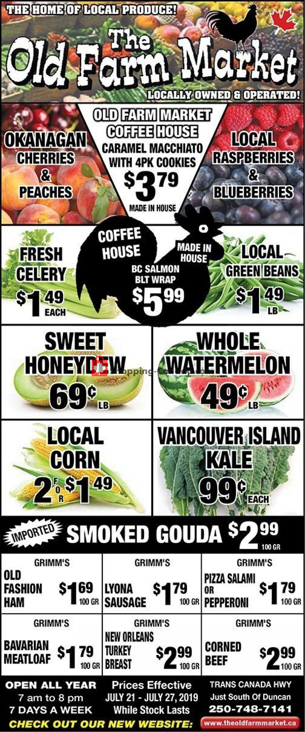 Flyer The Old Farm Market Canada - from Sunday July 21, 2019 to Saturday July 27, 2019