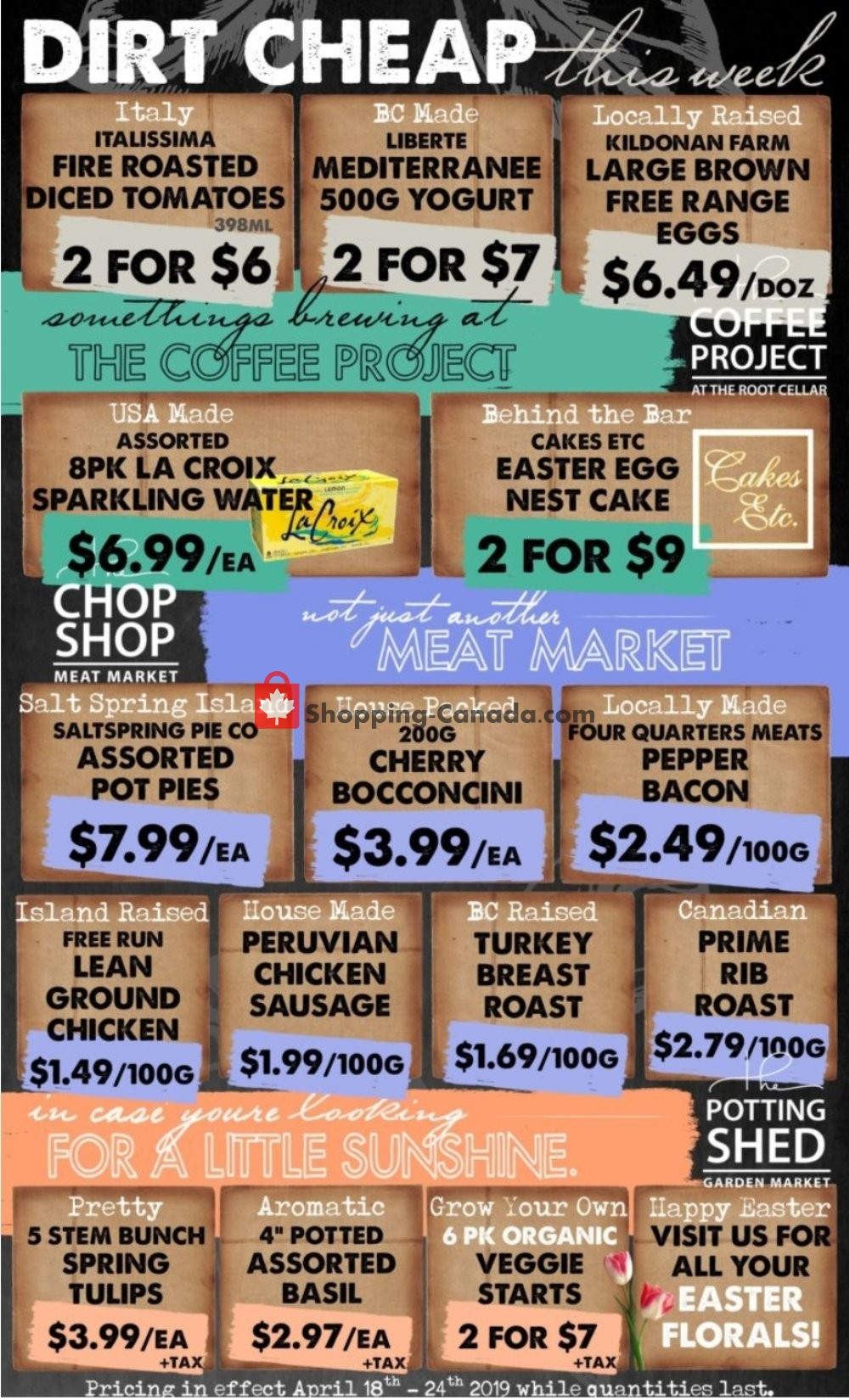 Flyer The Root Cellar Canada - from Thursday April 18, 2019 to Wednesday April 24, 2019