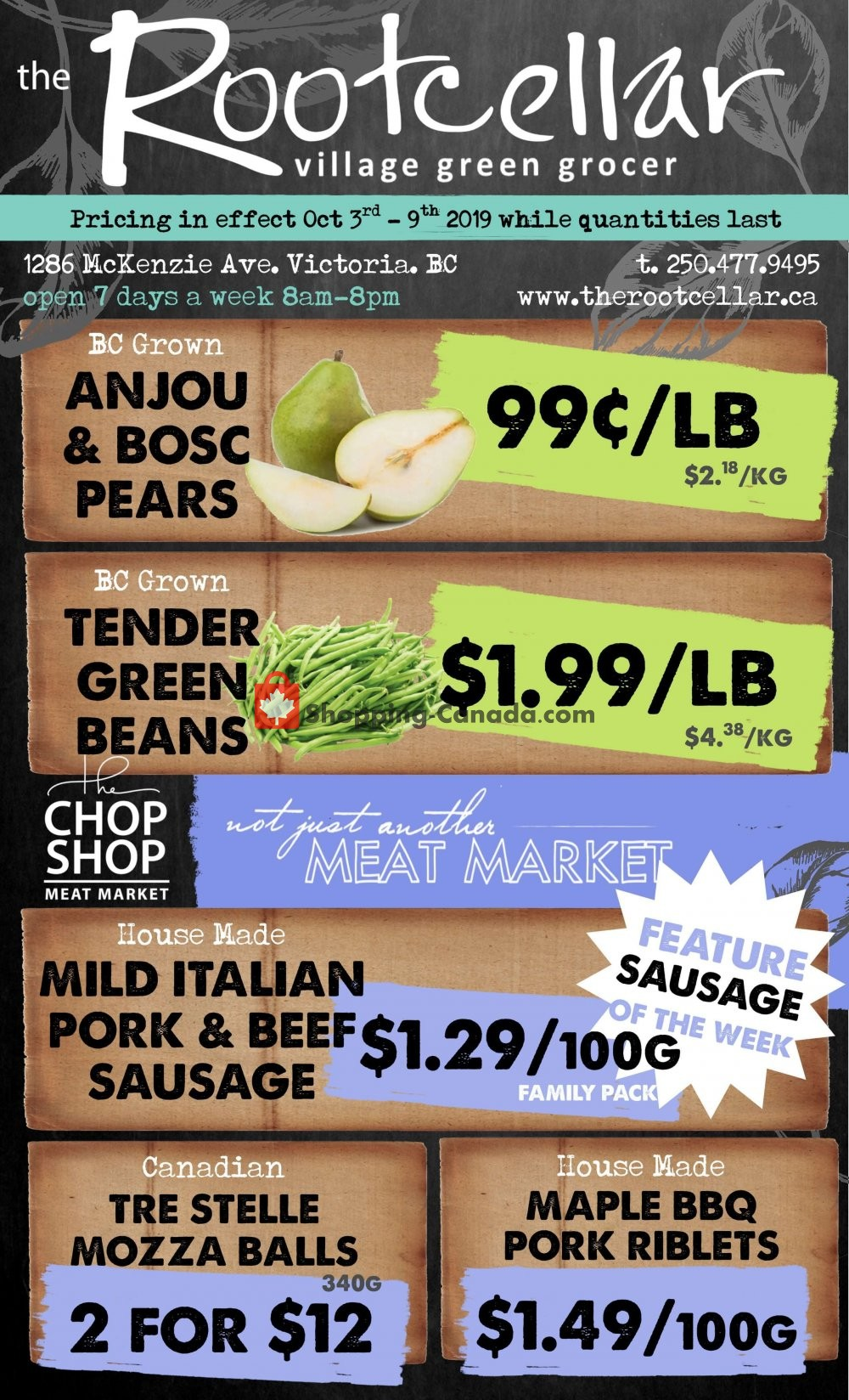 Flyer The Root Cellar Canada - from Thursday October 3, 2019 to Wednesday October 9, 2019