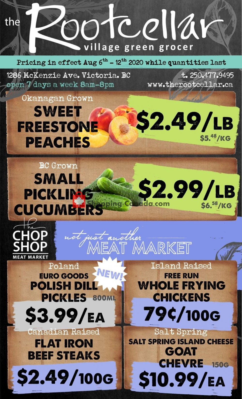 Flyer The Root Cellar Canada - from Thursday August 6, 2020 to Wednesday August 12, 2020