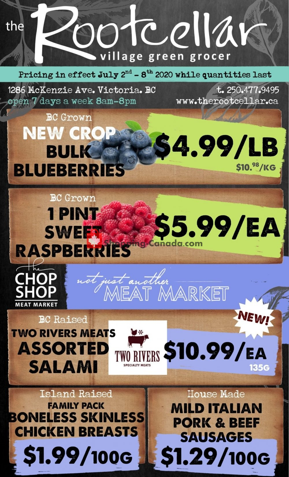 Flyer The Root Cellar Canada - from Thursday July 2, 2020 to Wednesday July 8, 2020