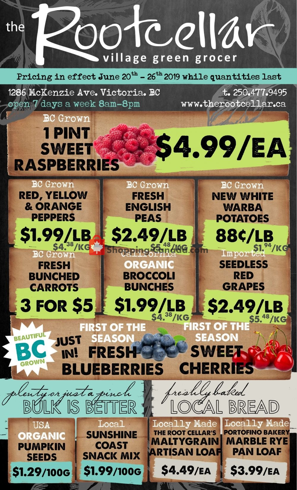 Flyer The Root Cellar Canada - from Thursday June 20, 2019 to Wednesday June 26, 2019
