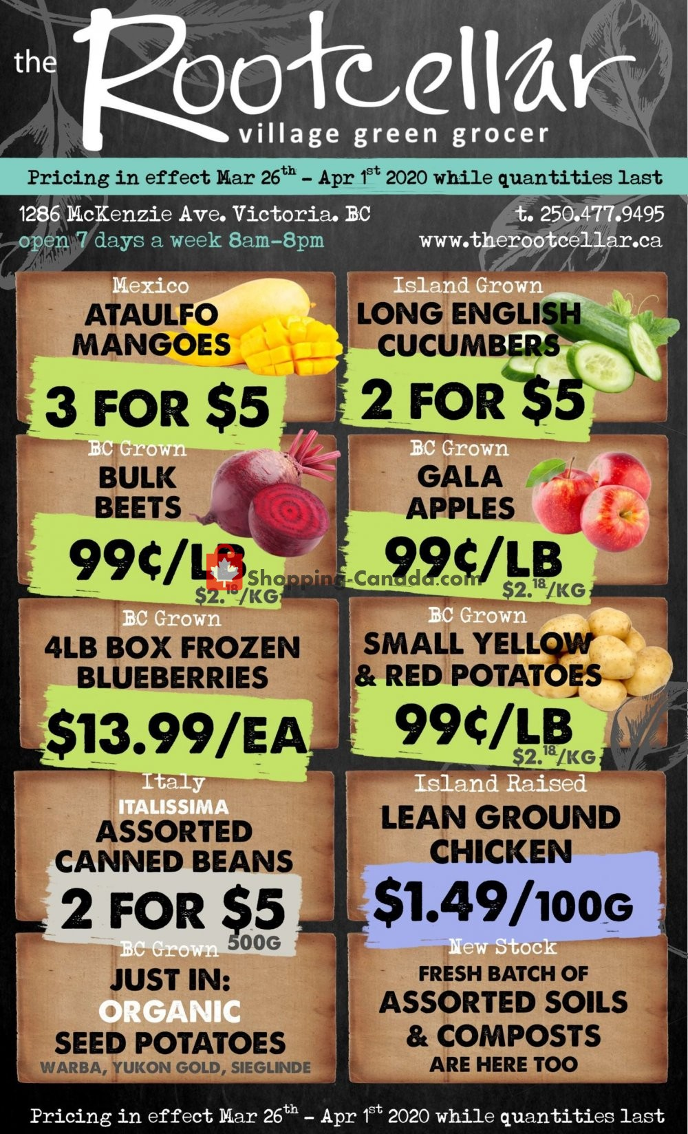 Flyer The Root Cellar Canada - from Thursday March 26, 2020 to Wednesday April 1, 2020
