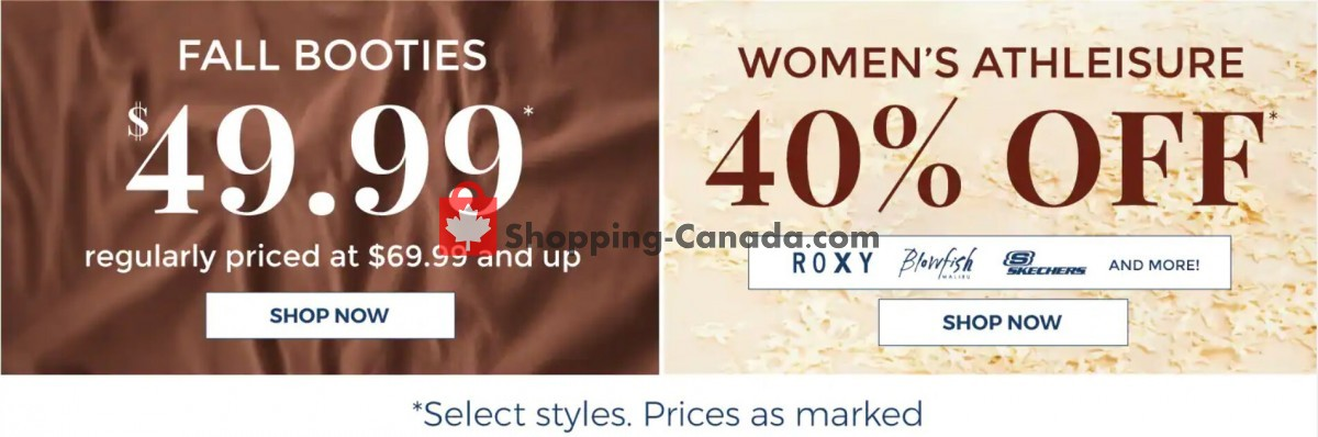 Flyer The Shoe Company Canada - from Tuesday October 5, 2021 to Monday October 11, 2021