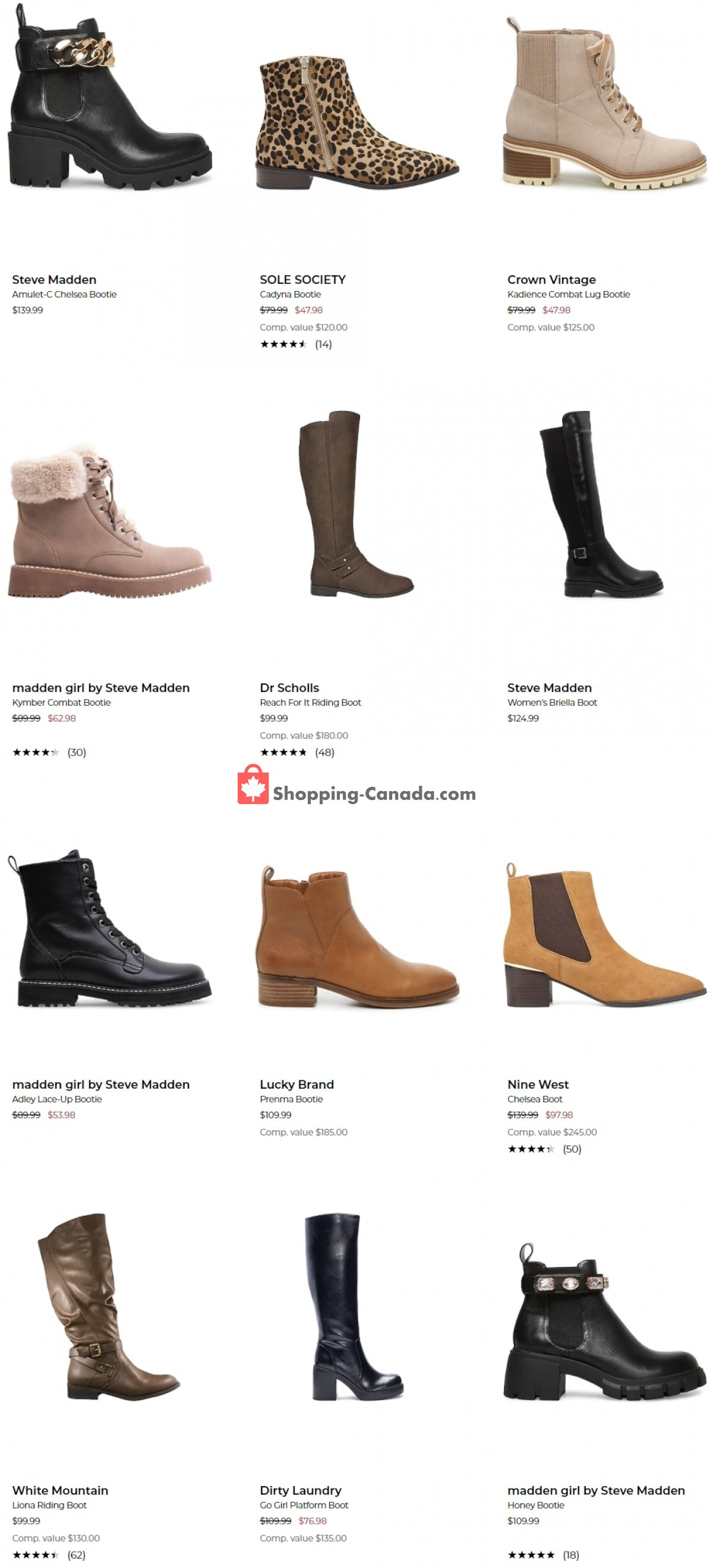 Flyer The Shoe Company Canada - from Tuesday October 12, 2021 to Monday October 18, 2021