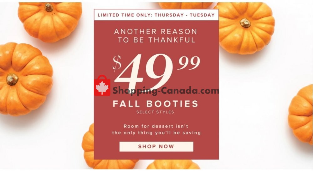 Flyer The Shoe Company Canada - from Thursday October 10, 2019 to Tuesday October 15, 2019