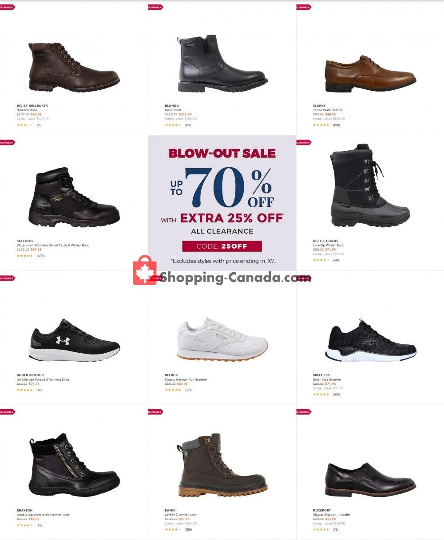 Flyer The Shoe Company Canada - from Wednesday January 20, 2021 to Tuesday January 26, 2021