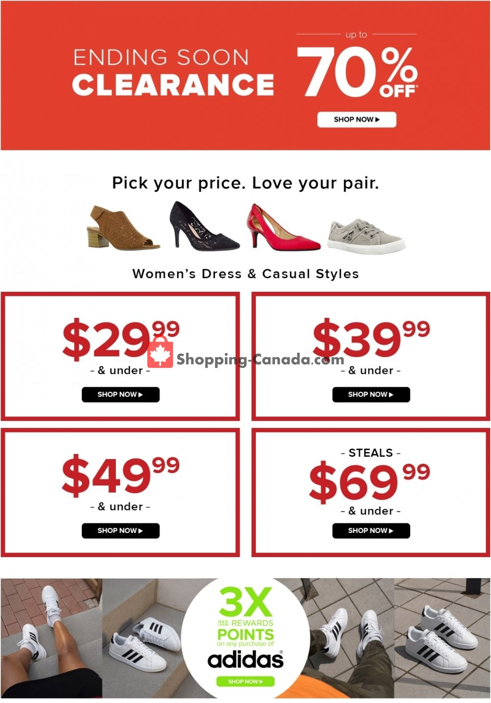 The Shoe Company Canada, flyer - (End