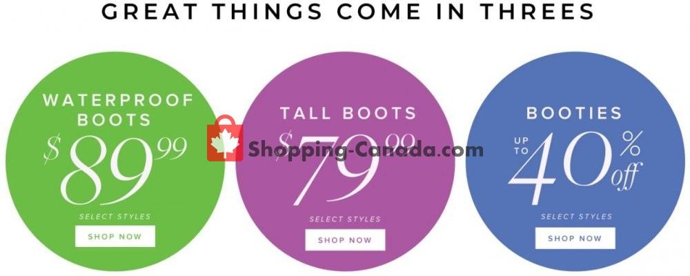 Flyer The Shoe Company Canada - from Tuesday November 12, 2019 to Monday November 18, 2019