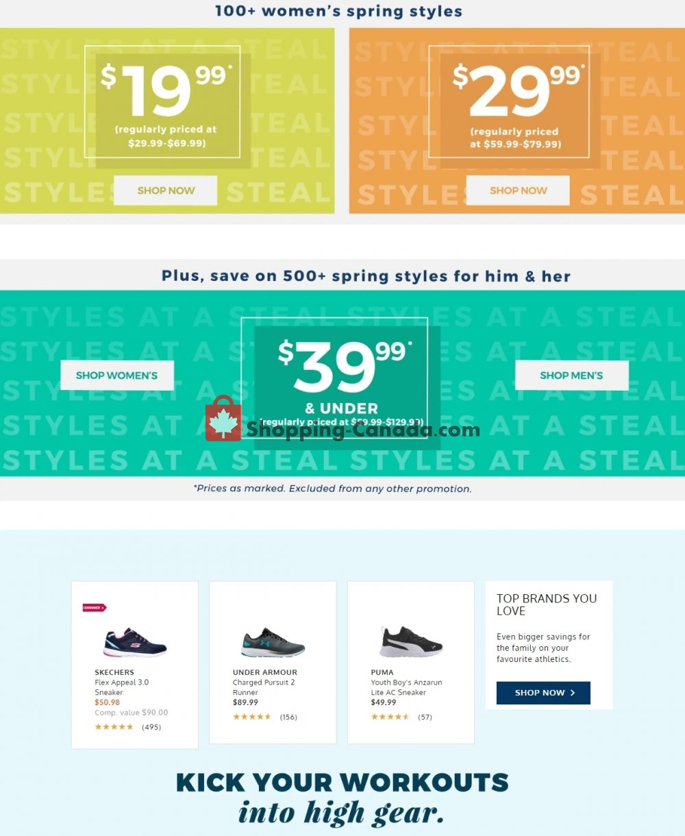 Flyer The Shoe Company Canada - from Wednesday May 27, 2020 to Tuesday June 2, 2020