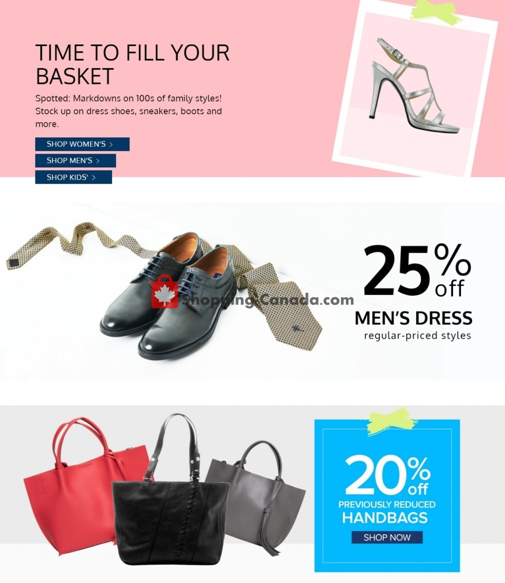 Flyer The Shoe Company Canada - from Wednesday April 17, 2019 to Tuesday April 23, 2019