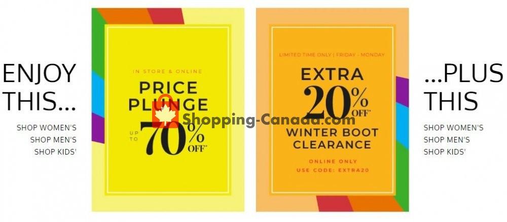 Flyer The Shoe Company Canada - from Friday February 7, 2020 to Thursday February 13, 2020