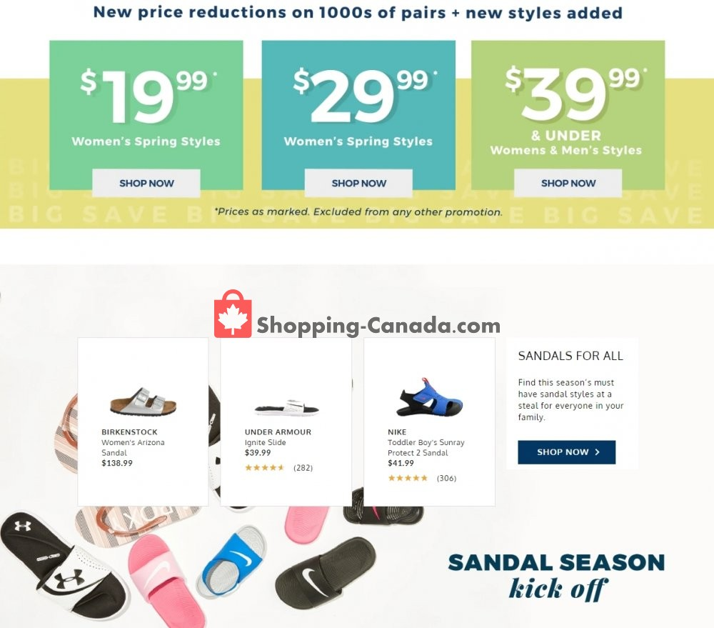 Flyer The Shoe Company Canada - from Wednesday June 3, 2020 to Tuesday June 9, 2020