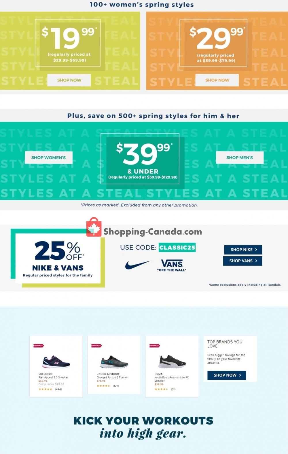 Flyer The Shoe Company Canada - from Wednesday May 20, 2020 to Tuesday May 26, 2020