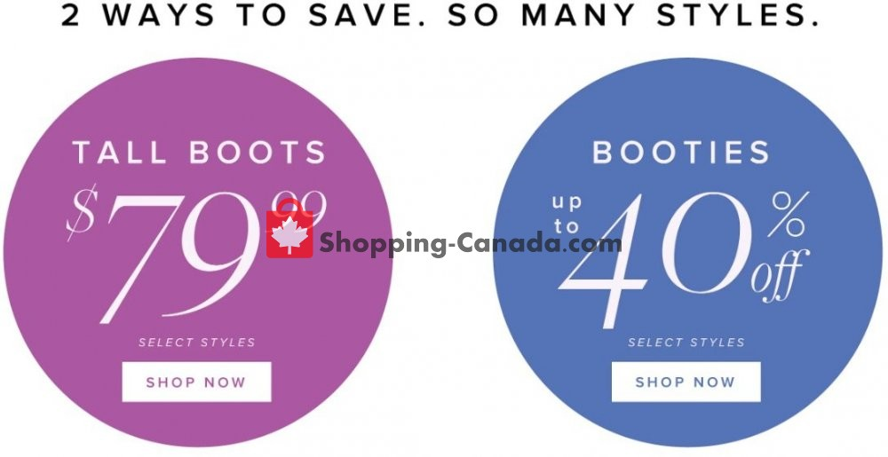 Flyer The Shoe Company Canada - from Wednesday November 6, 2019 to Tuesday November 12, 2019