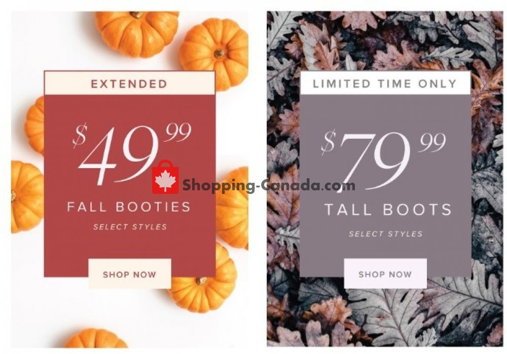 Flyer The Shoe Company Canada - from Thursday October 24, 2019 to Wednesday October 30, 2019