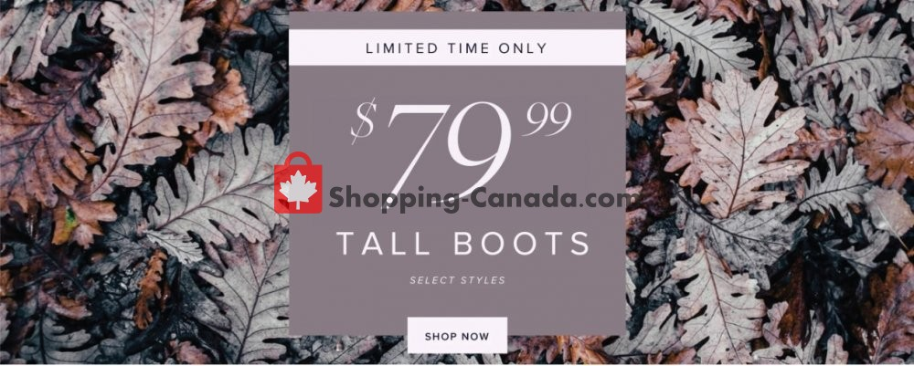 Flyer The Shoe Company Canada - from Wednesday October 30, 2019 to Tuesday November 5, 2019