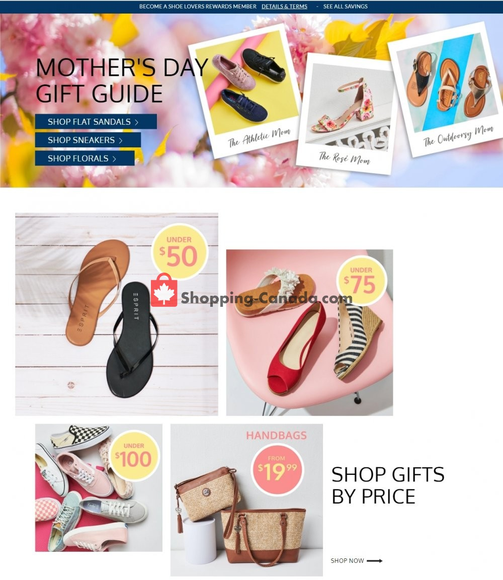 Flyer The Shoe Company Canada - from Tuesday May 7, 2019 to Monday May 13, 2019