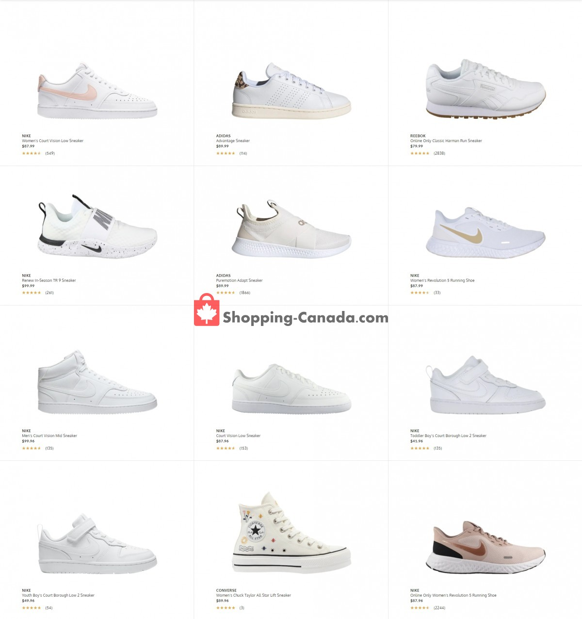 Flyer The Shoe Company Canada - from Tuesday March 30, 2021 to Monday April 5, 2021