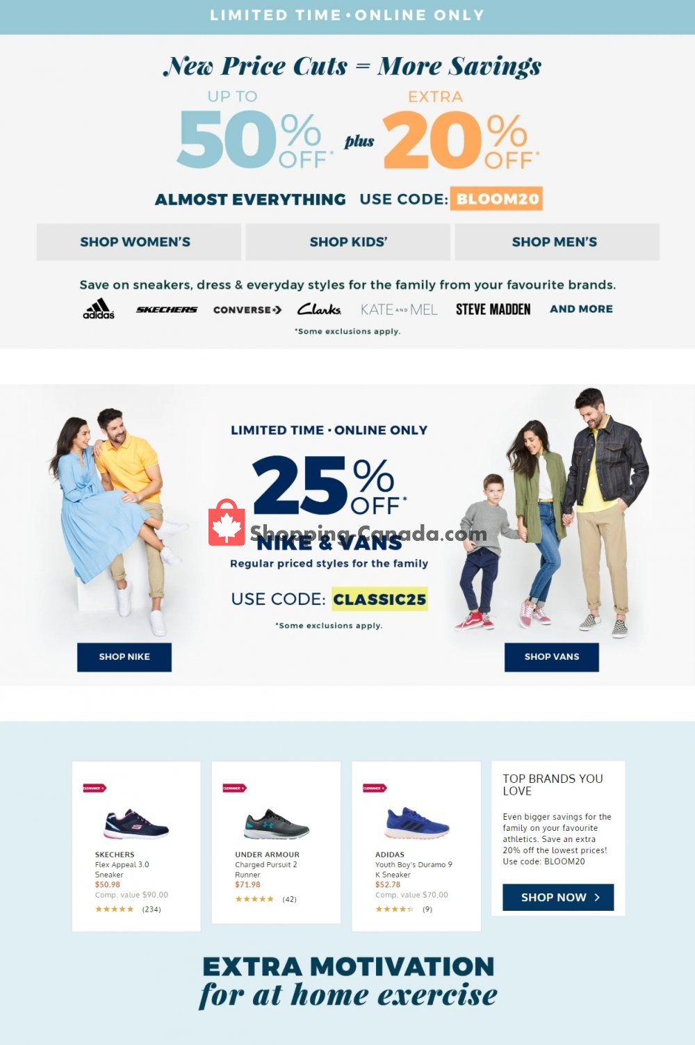 Flyer The Shoe Company Canada - from Sunday April 26, 2020 to Saturday May 2, 2020