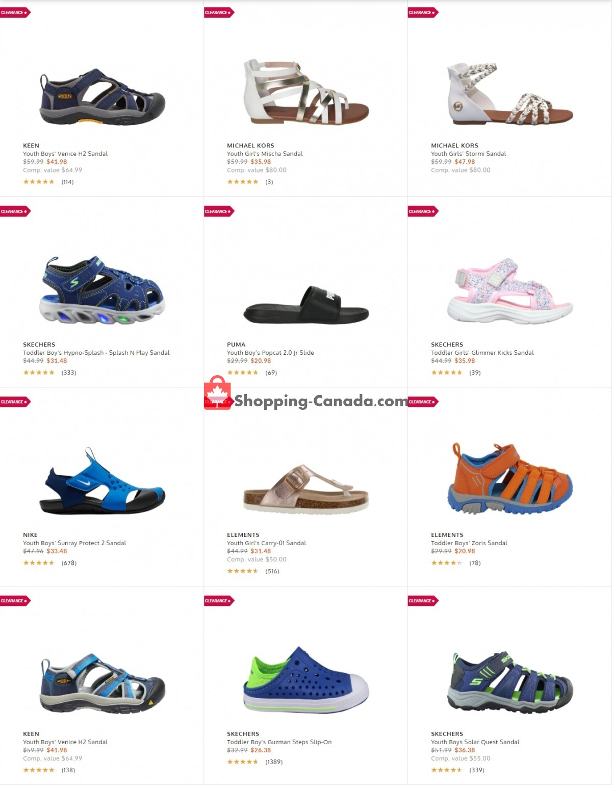 Flyer The Shoe Company Canada - from Tuesday July 20, 2021 to Monday July 26, 2021
