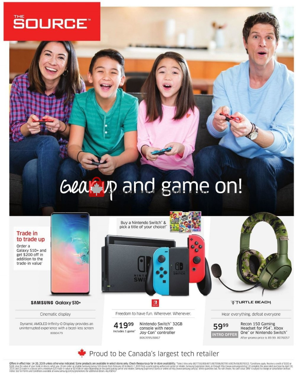 Flyer The Source Canada - from Thursday March 14, 2019 to Wednesday March 20, 2019