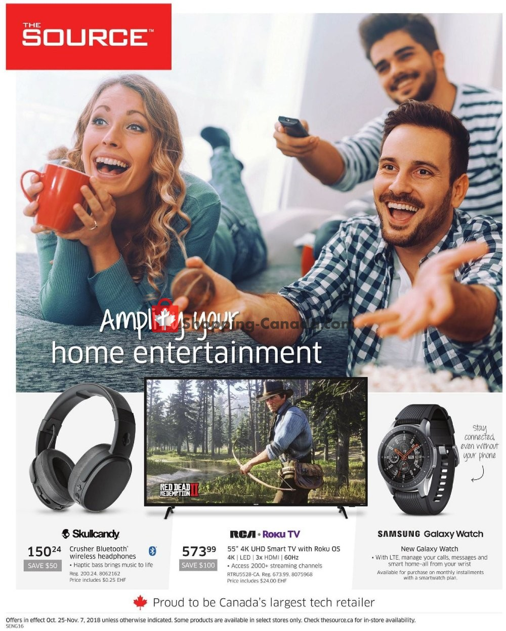 Flyer The Source Canada - from Thursday October 25, 2018 to Wednesday November 7, 2018