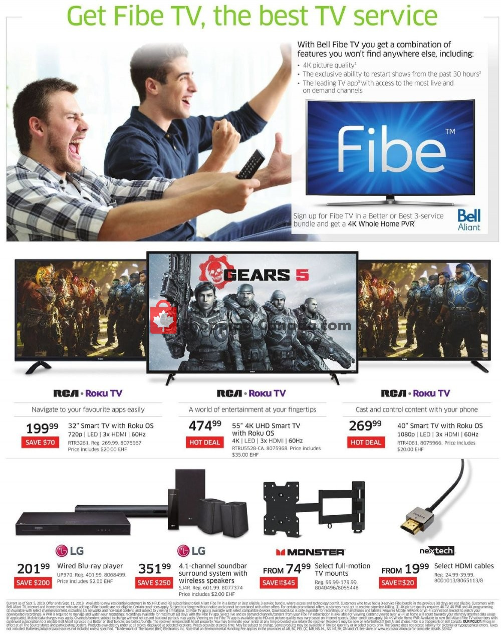Flyer The Source Canada - from Thursday September 5, 2019 to Wednesday September 11, 2019