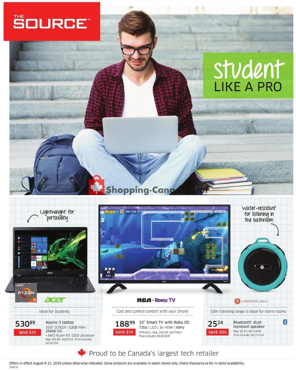 Flyer The Source Canada - from Thursday August 8, 2019 to Wednesday August 21, 2019