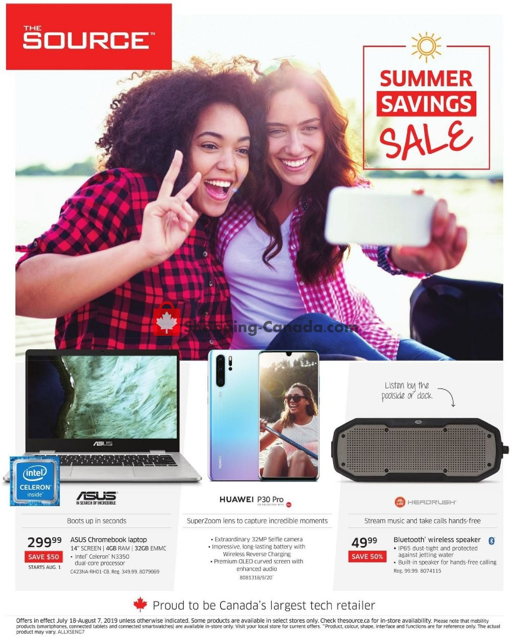 Flyer The Source Canada - from Thursday July 18, 2019 to Wednesday August 7, 2019