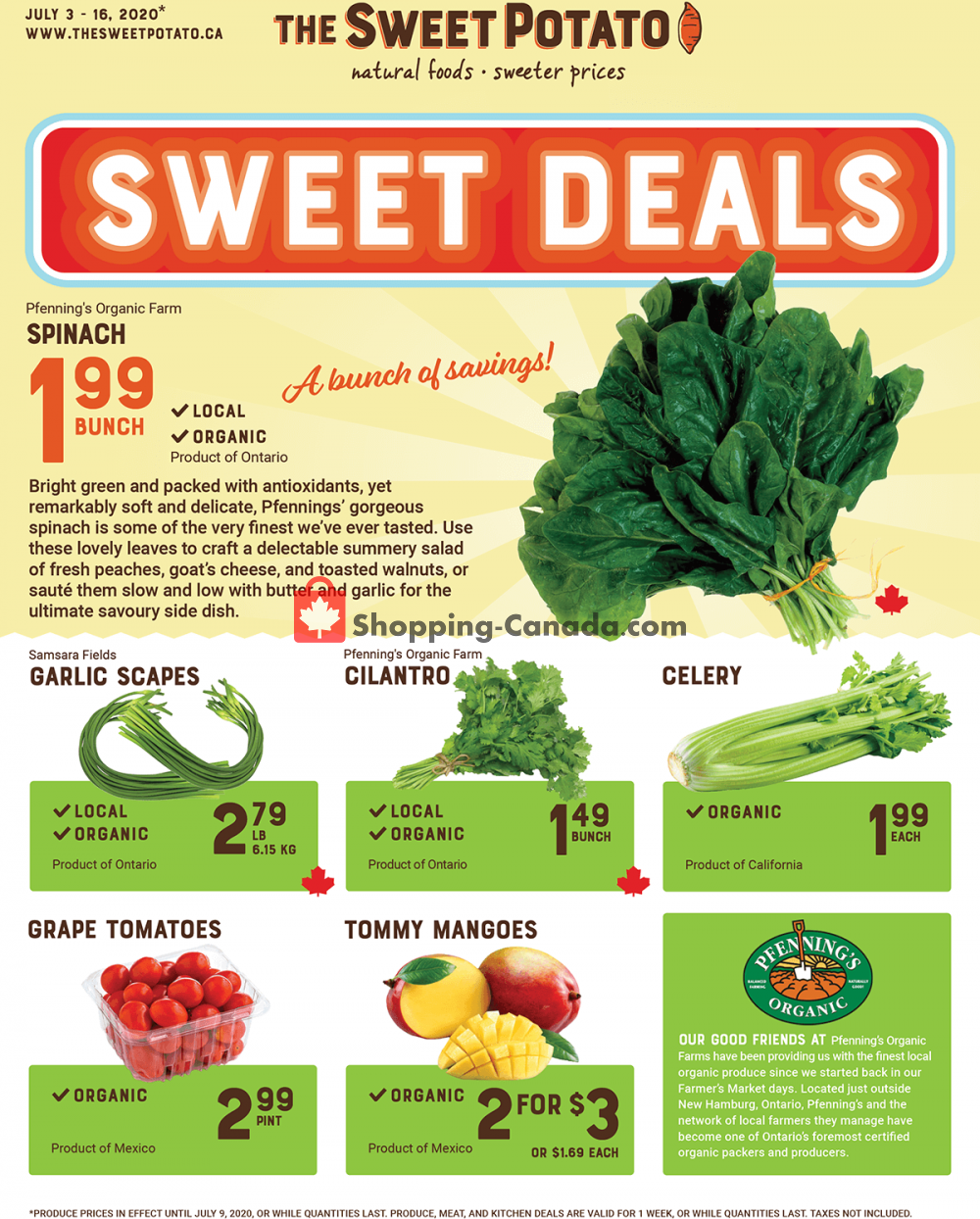 Flyer The Sweet Potato Canada - from Friday July 3, 2020 to Thursday July 16, 2020