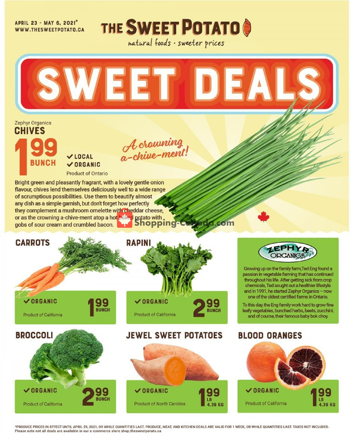 Flyer The Sweet Potato Canada - from Friday April 23, 2021 to Thursday May 6, 2021