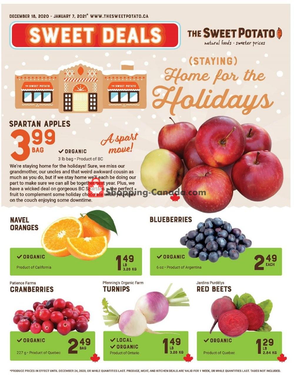 Flyer The Sweet Potato Canada - from Friday December 18, 2020 to Thursday January 7, 2021
