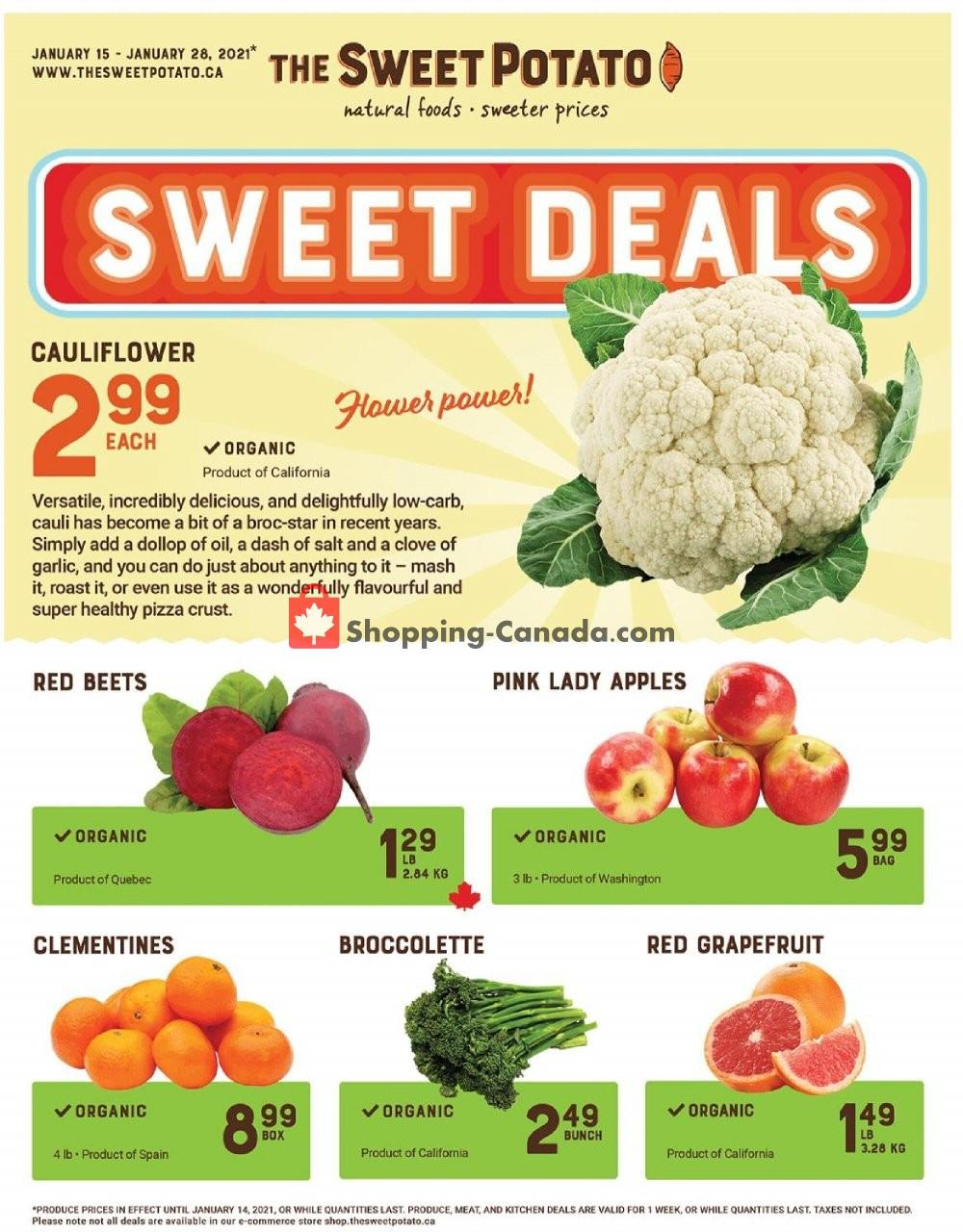 Flyer The Sweet Potato Canada - from Friday January 15, 2021 to Thursday January 28, 2021