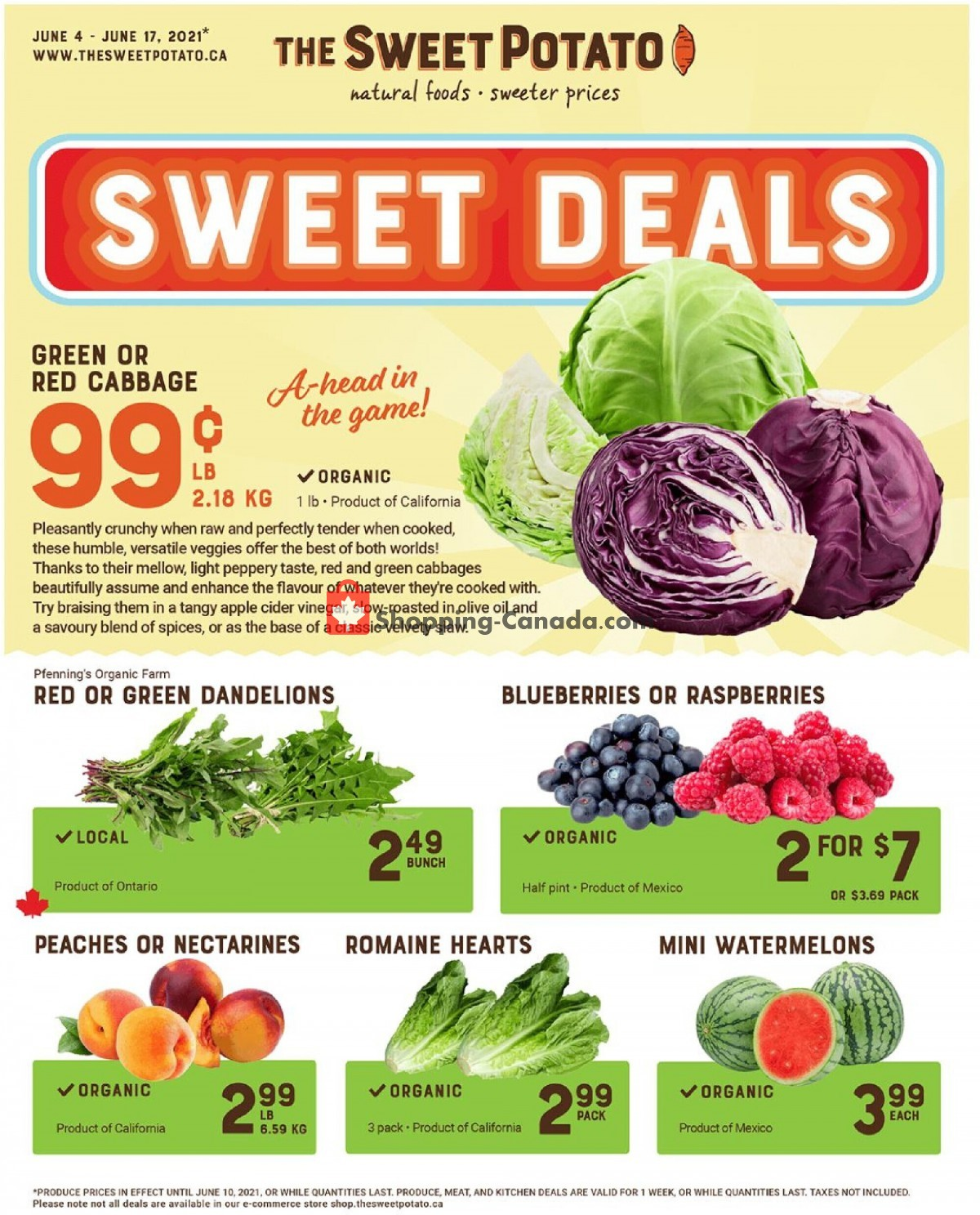 Flyer The Sweet Potato Canada - from Friday June 4, 2021 to Thursday June 17, 2021
