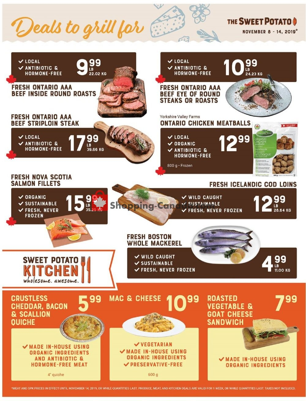Flyer The Sweet Potato Canada - from Friday November 8, 2019 to Thursday November 14, 2019
