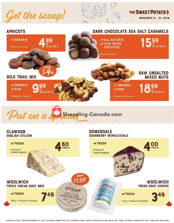 Flyer The Sweet Potato Canada - from Friday November 8, 2019 to Thursday November 14, 2019