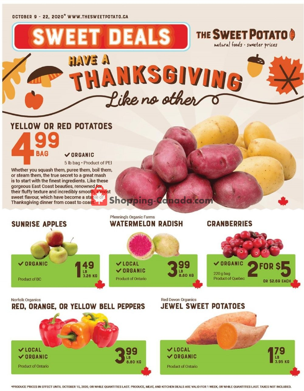 Flyer The Sweet Potato Canada - from Friday October 9, 2020 to Thursday October 22, 2020