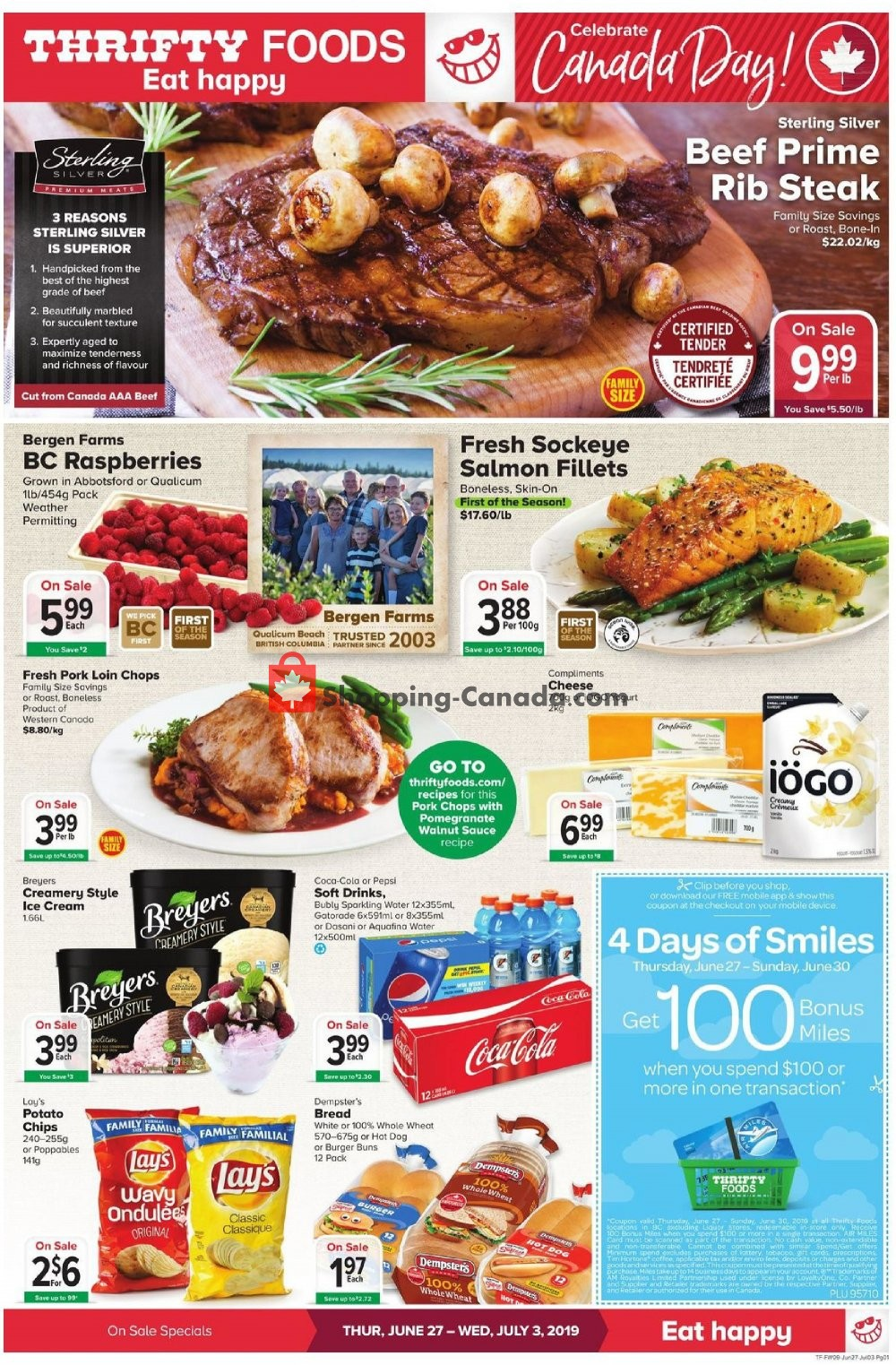 Flyer Thrifty Foods Canada - from Thursday June 27, 2019 to Wednesday July 3, 2019