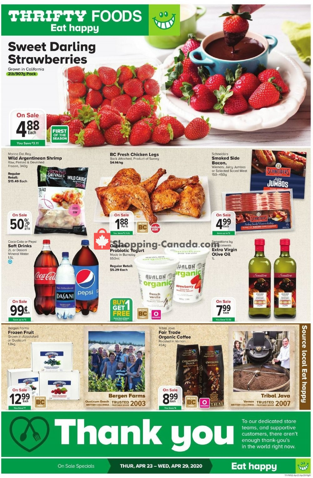 Flyer Thrifty Foods Canada - from Thursday April 23, 2020 to Wednesday April 29, 2020