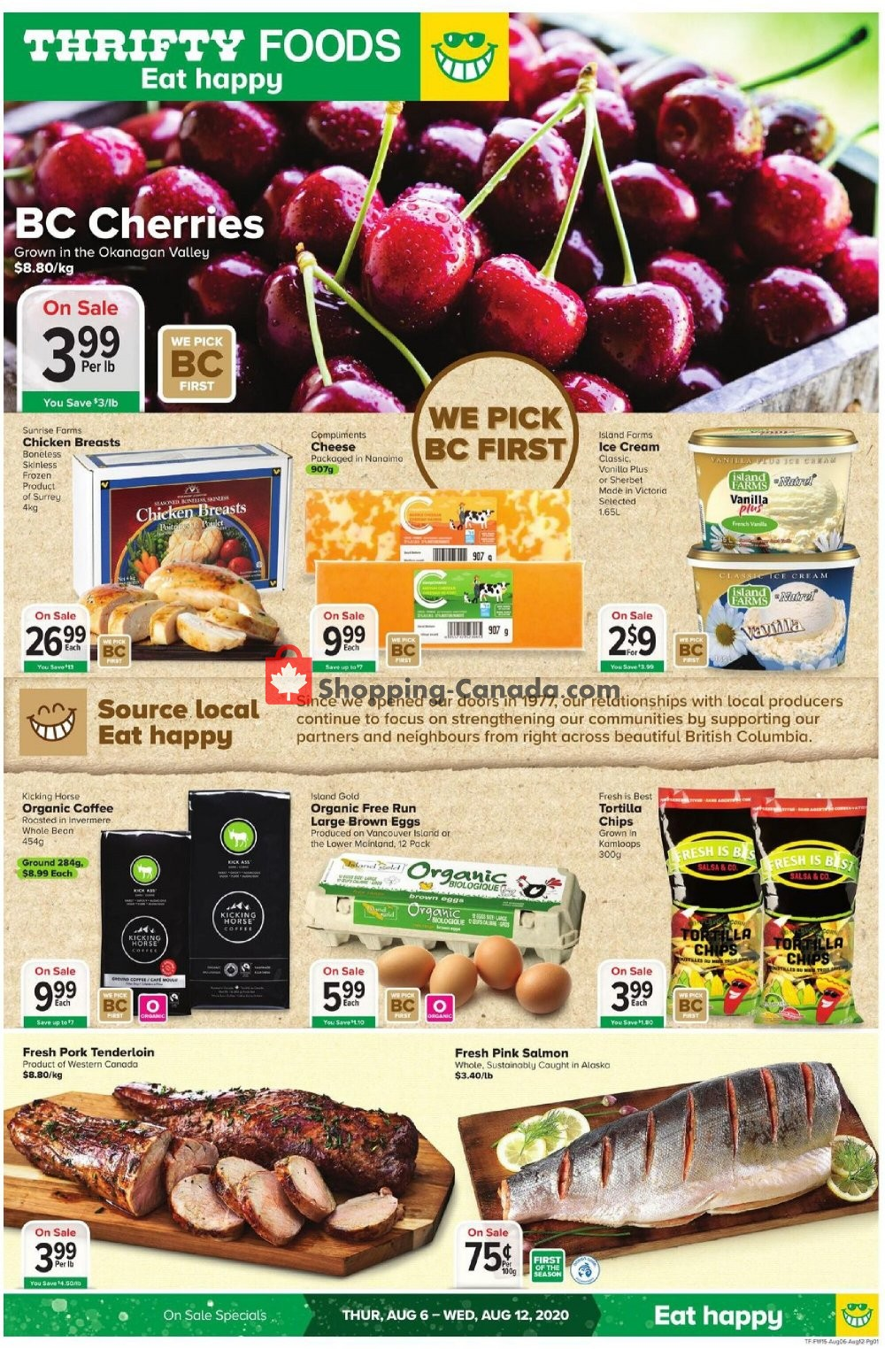 Flyer Thrifty Foods Canada - from Thursday August 6, 2020 to Wednesday August 12, 2020