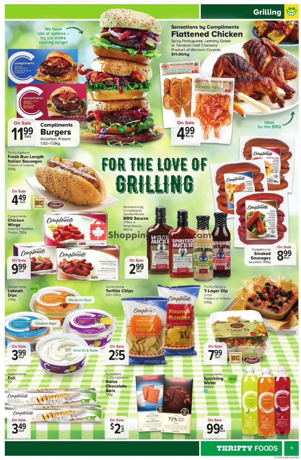 Flyer Thrifty Foods Canada - from Thursday August 8, 2019 to Wednesday August 14, 2019