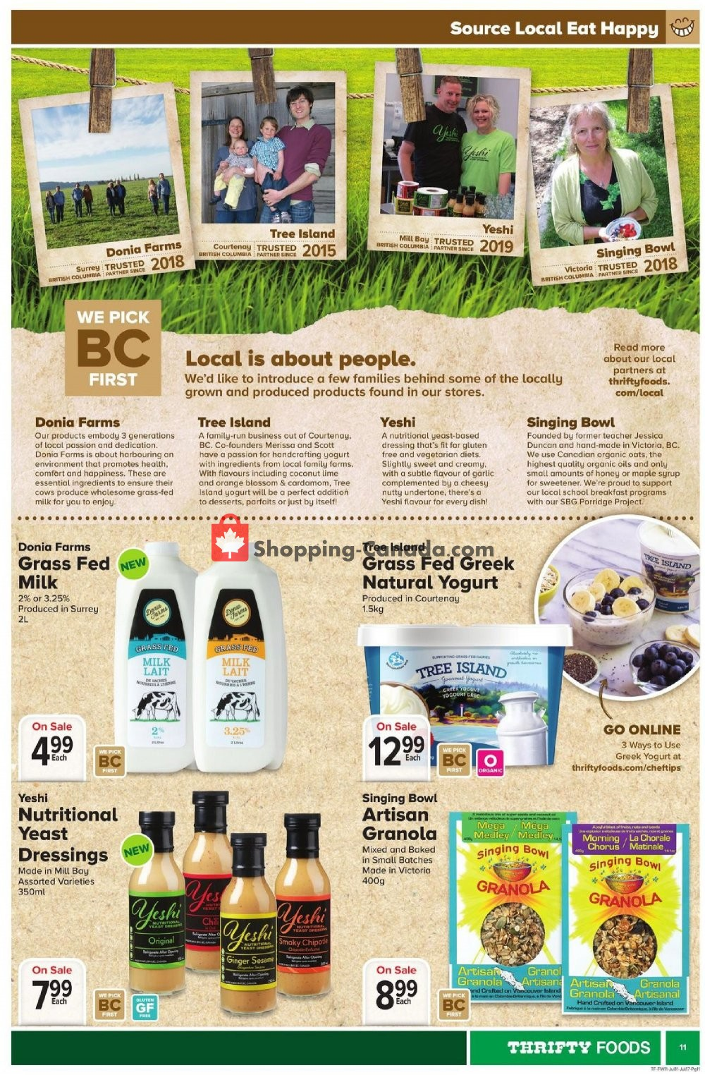 Flyer Thrifty Foods Canada - from Thursday July 11, 2019 to Wednesday July 17, 2019