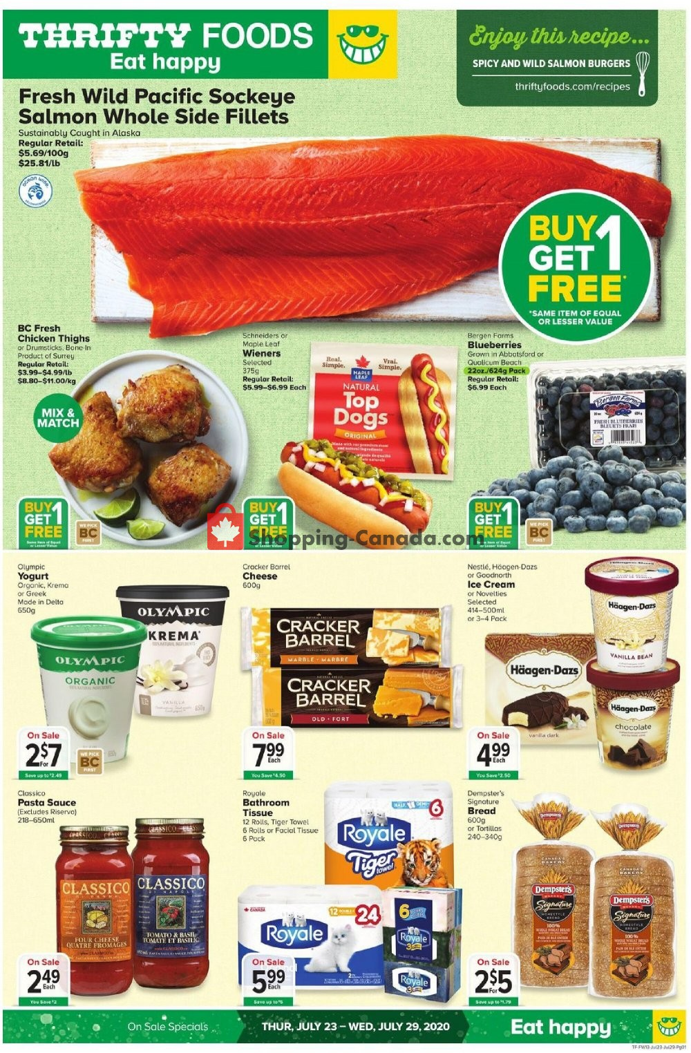 Flyer Thrifty Foods Canada - from Thursday July 23, 2020 to Wednesday July 29, 2020