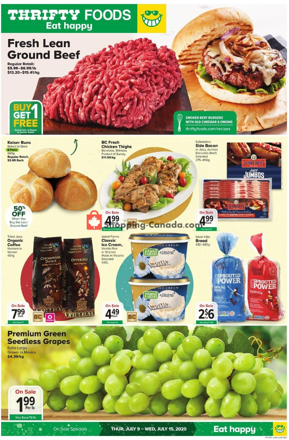 Flyer Thrifty Foods Canada - from Thursday July 9, 2020 to Wednesday July 15, 2020