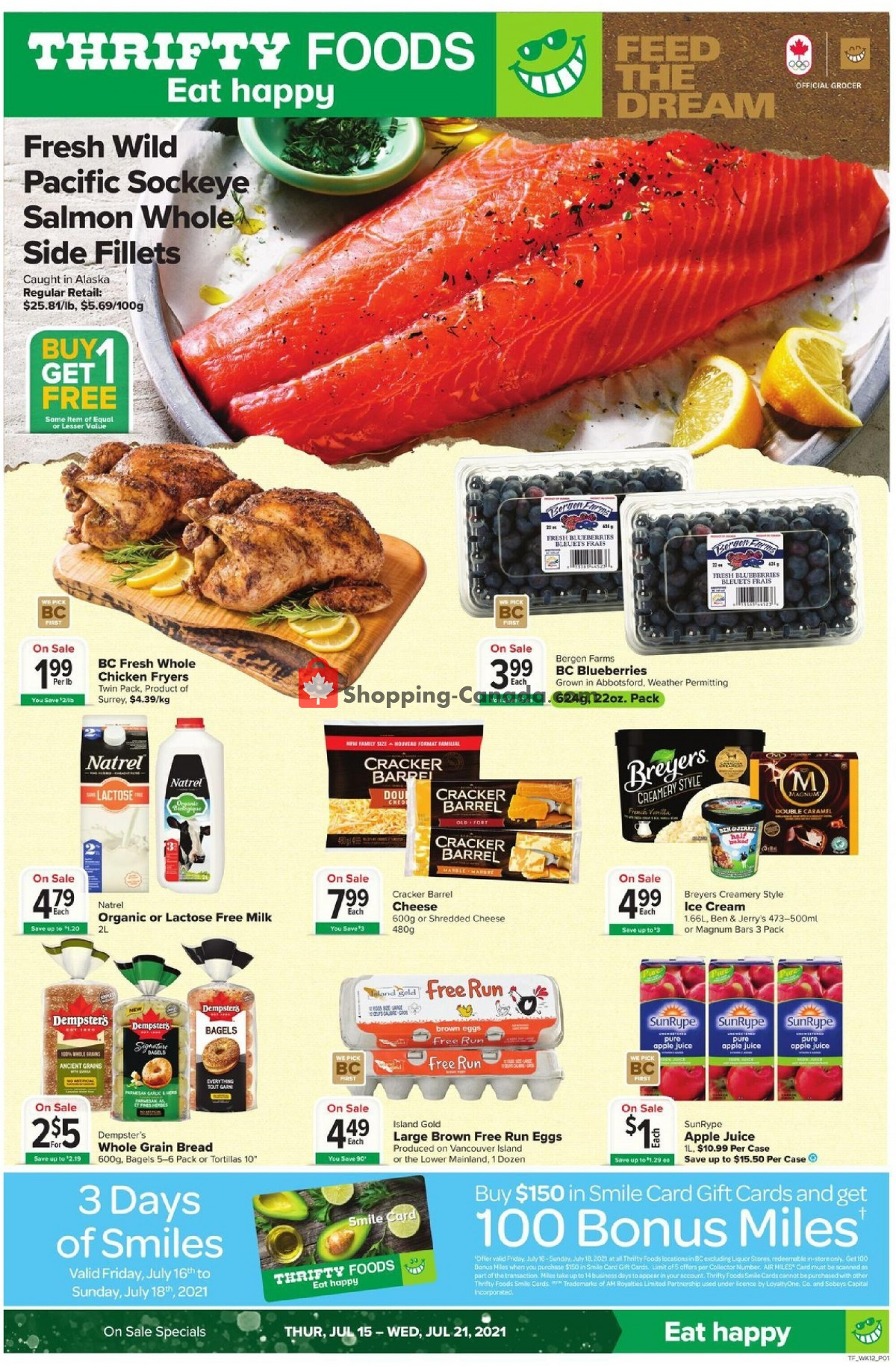 Flyer Thrifty Foods Canada - from Thursday July 15, 2021 to Wednesday July 21, 2021