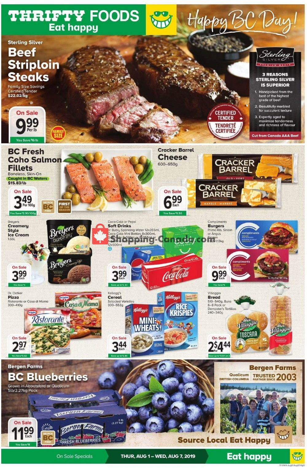 Flyer Thrifty Foods Canada - from Thursday August 1, 2019 to Wednesday August 7, 2019