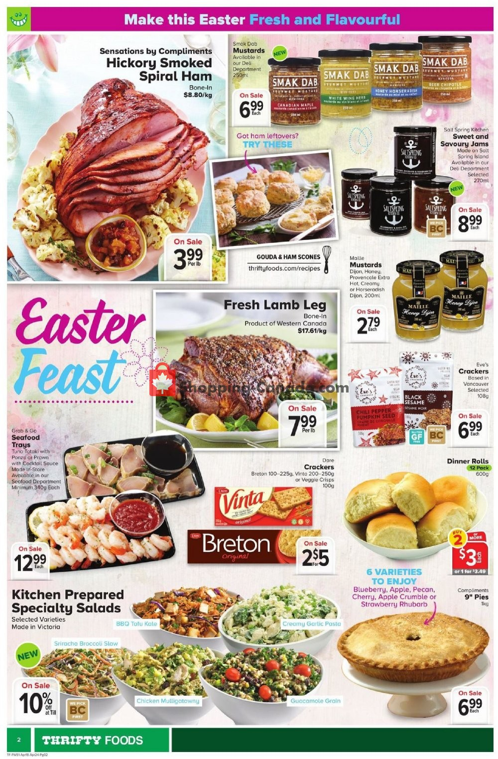 Flyer Thrifty Foods Canada - from Thursday April 18, 2019 to Wednesday April 24, 2019