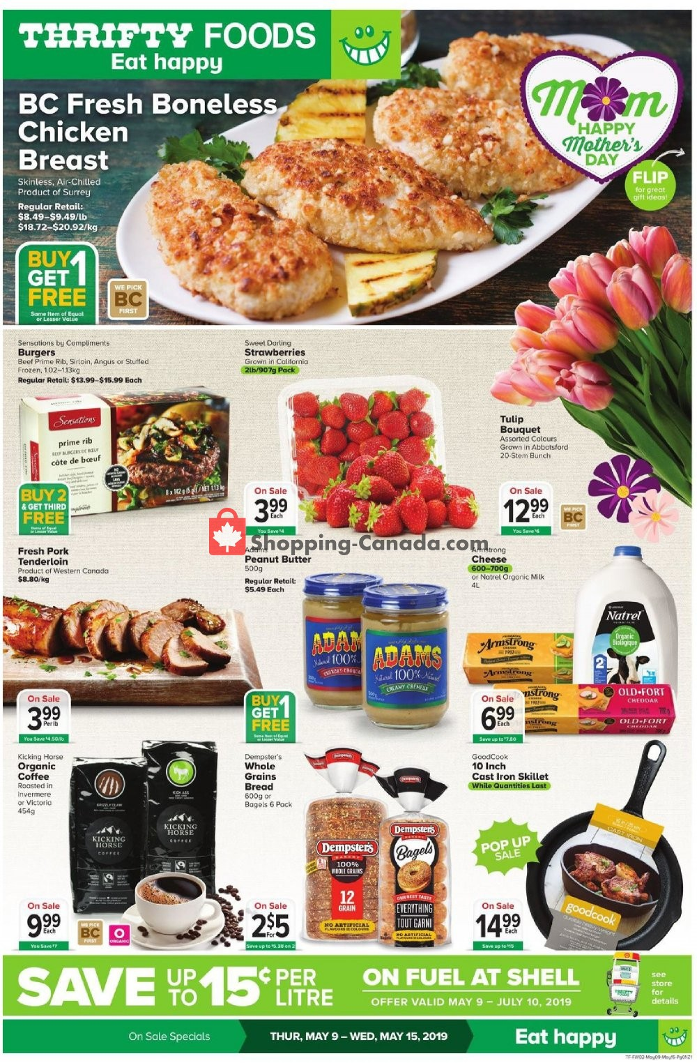 Flyer Thrifty Foods Canada - from Thursday May 9, 2019 to Wednesday May 15, 2019